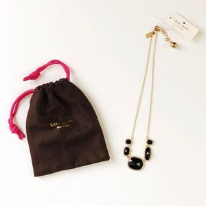 New Kate Spade Black Park and Lex Row Necklace